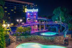monorail waterslides (imageneer) Tags: california anaheim hotel swimmingpool sony disneyland rx100m3 waterslide monorail