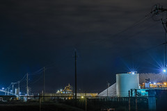 salt mountain (pbo31) Tags: california eastbay alamedacounty bayarea nikon d810 color september 2016 summer boury pbo31 panoramic large stitched panorama night black dark morton salt company newark plant processing industrial work food