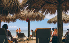 Smalltalk syntax (digitalVerve) Tags: 2016 jamaica montegobay vacation beach digitalverve hut huts nipa palapa travel