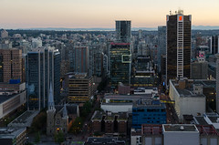 Vancouver Skyline 3 (James Dun) Tags: vancouver british columbia canada sunset skyline skyscrapers city downtown holiday nikond7000