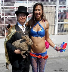 Dr. Takeshi Yamada and Seara (Coney Island Sea Rabbit) at the Mermaid Parade by the Coney Island Beach in Brooklyn, New York on June 18, 2016.  20160618SAT MERMAID PARADE. DSCN6606=p-1010C2. (searabbits23) Tags: searabbit seara takeshiyamada  taxidermy roguetaxidermy mart strange cryptozoology uma ufo esp curiosities oddities globalwarming climategate dragon mermaid unicorn art artist alchemy entertainer performer famous sexy playboy bikini fashion vogue goth gothic vampire steampunk barrackobama billclinton billgates sideshow freakshow star king pop god angel celebrity genius amc immortalized tv immortalizer japanese asian mardigras tophat google yahoo bing aol cnn coneyisland brooklyn newyork leonardodavinci damienhirst jeffkoons takashimurakami vangogh pablopicasso salvadordali waltdisney donaldtrump hillaryclinton endangeredspecies parade
