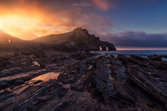 Gaztelugatxes down II (Ivn F.) Tags: nikon d800e tamron 1530mm gaztelugatxe vizcaya bakio spain landscape landscapes seascape sundown sunset atardecer lines rocks composition light dark sky reflection travel tourism europe nature water sea explore explorer