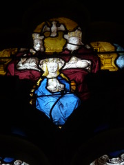 Virgin and Trinity (Andrea Kirkby) Tags: stained glass renaissance chartres aignan france
