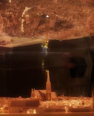 2x St. Stephen`s Cathedral Vienna ~ Stephansdom - Wien Museum (hedbavny) Tags: vienna wien urban reflection history glass austria licht sterreich model dom sightseeing mockup stephansdom turm schatten spiegelung modell gebude glas tourismus innenstadt vitrine urbane 1010 1420 karlsplatz geschichte historisch wahrzeichen steffl kirchturm stadtansicht innerestadt kirchturmspitze glaskasten schaukasten attraktion 1bezirk stephanskirche lichtreflex nachbau wienmuseum durchsicht glasscover domkircheststephanzuwien glassturz