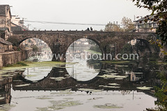 CN XXN161 111112807 (setboun photos) Tags: china bridge water architecture river asia eau riviere pollution pont asie liquid chine developingcountries liquide archbridge anhuiprovince builtstructure yixiancounty regionduanhui xiulivillage provinceduyixian