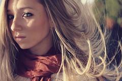 (sierra.bethh) Tags: autumn light shadow fall me girl self hair eyes wind saturation blonde breeze rebelt3i flickr12days