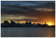 Liverpool 12 (Brian Gort Wildlife Photography) Tags: city red sky urban reflection skyline liverpool sunrise dawn hdr flickraward flickraward5