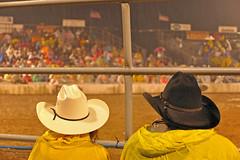 Salt & Pepper (dlholt) Tags: storm motion color rain yellow cowboy stormy iowa rainy ia rodeo tough fortmadison ftmadison tristaterodeo
