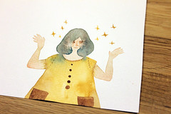 Sketch 3 (jmasuko) Tags: girl fashion sparkles illustration jo masuko