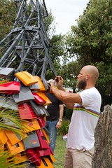 Artist at work (Val in Sydney) Tags: sculpture art beach sydney australia nsw sculpturebythesea 2012 tamarama sxsbondi