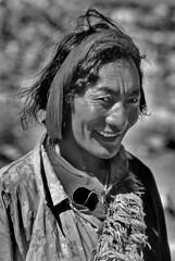 Tibet (luca marella) Tags: china portrait people bw white black film smile face blackwhite pb bn e tibetan sherpa bianco nero cina analogic marellaluca