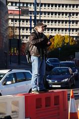 Don't step back! (tim ellis) Tags: uk standing birmingham photographer barrier eastside msh1112 bfm1112 msh111216
