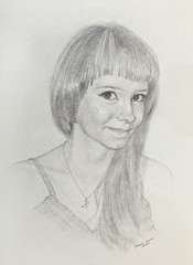 Portrait: Portrait of a young woman (Annabelle Danchee) Tags: portrait people art beautiful face pencil paper graphics graphic drawing annabelle creative draw graphite danchee