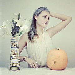 (Devontth) Tags: lighting flowers portrait white girl studio pumpkin french photography photo tim ellie lilies walker revolution vase timwalker instagram