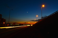 Sunset on the road (Samir Cabbarov) Tags: sunset nikond5100 nikkor1855longexposure sunsetlightroad