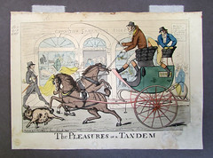 The Pleasures of a Tandem - After Treatment (National Library of Ireland) Tags: ireland dublin 19thcentury conservation caricature prints engravings leinster nationallibrary