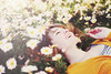 The Lucky One (Danielle Pearce) Tags: flowers sun girl daisies laughing canon vintage garden pretty mark ii 5d