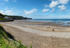 Sandsend: Beach (phil openshaw) Tags: autumn sea england beach landscape coast seaside lancashire blackpool