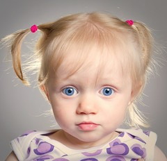 Doll face (Ptur Gunn Photograpphy) Tags: lighting blue light portrait baby eye girl studio fun happy iceland kid eyes toddler funny child young picture stare eyed bomba strobe adda icelandic st stelpa dlla icelander kristn krtt strobist slendingar ptursdttir slendingur dlluleg