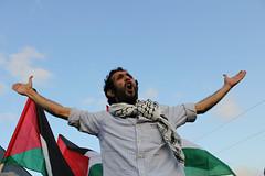 Egyptian Convoy at the Rafah Border, Egypt (Gigi Ibrahim) Tags: israel palestine border attack solidarity egyptian convoy activists rafah gaza aide revolutionaries revsoc