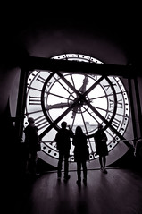 clockwatching (kayteeknee) Tags: travel white black paris france tower art clock station silhouette museum train nikon europe musee clocktower 1020mm dorsay d5000