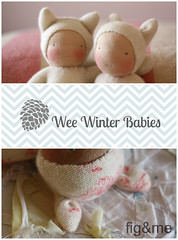 Wee winter babies (Fig & Me) Tags: doll natural handmade critter poupee muneca popje stoffpuppe figandme