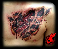 395041_519559204721680_687915170_n (Jackie rabbit Tattoos) Tags: city tattoo flesh out star virginia cool blood colorful heart skin good awesome great roanoke va bone lettering bloody tear tearout anatomical jackierabbit
