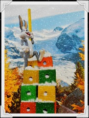 To the Top or Bust (Cathlon) Tags: mountain snow fun climb top cartoon achievement tabletop pinnacle mountaineer bugsbunny looneytunes atthetop kingofthecastle odc2 ourdailychallenge picmonkey