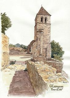 Olargues, la tour