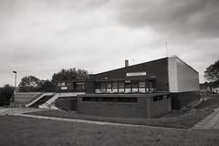 Ecccleshall Pool (Saturated Imagery) Tags: urban blackandwhite iso100 bradford swimmingpool selfdeveloped luckyshd100 vivitar28mmf25 prakticatl5b eccleshill rolleid74