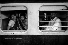 emergency window (streetwrk.com) Tags: street travel people india monochrome train blackwhite track streetphotography stranger railwaystation trainstation bombay mumbai victoriastation streetogs streetwrk
