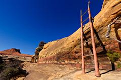 Lost Canyon ladder (ashergrey) Tags: park lost utah hiking district canyon hike trail national canyonlands ladder needles