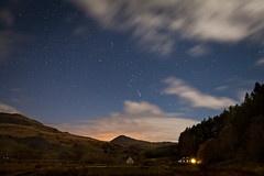 Into the wild (theloneman) Tags: longexposure sky mountains nature wales night clouds forest canon buildings stars countryside movement cabin alone blurred ethereal snowdon dreamy lonely dots snowdonia atmospheric 2470mm28l canon5dmkii 5dmkii