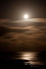 Smoked Moon (ubiquitous_images) Tags: longexposure nightphotography moon beach night bay kent nikon englishchannel 2012 stmargarets stmargaretsbay d90 nikond90 ubiquitousimages