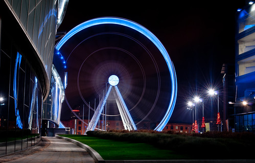 Echo wheel at kings dock Liverpool