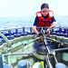 <p>CTD rosettes, which collect water samples from various depths, are key tools used during CalCOFI cruises</p>