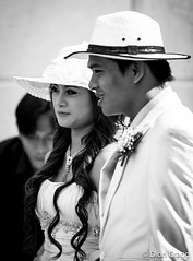 Hat's My Boy (Dion Cragg) Tags: wedding portrait blackandwhite bw hat smiling asian blackwhite asia southeastasia vietnamese hats vietnam bling weddingdress saigon hmc hochiminh asianmale asiangirls bridalcouple asianwomen asianbeauty vietnamesegirl asianmales weddinghats asianportraits vietnameseportrait