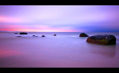 Minimalistic... (Minkn) Tags: world ocean sunset red sea sky sun seascape color reflection nature water norway spectacular landscape norge scenery rocks heaven colours sundown fuz