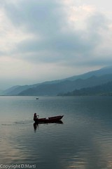 (M.Bob) Tags: travel nepal lake nature beauty landscape boat asia peace hills scenary serenity pokhara tranquilscene traquility pewa