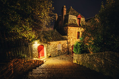 The Streets of Mont Saint Michel (Stuck in Customs) Tags: world old travel november trees red france streets history architecture night digital french island photography bay blog high europe republic dynamic stuck state path medieval historic norman unesco photoblog software processing western imaging normandie northern commune range normandy hdr tutorial trey travelblog montsaintmichel 2012 customs duchy rpubliquefranaise ratcliff hdrtutorial stuckincustoms treyratcliff photographyblog stuckincustomscom nikond800 nourmaundie