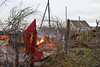 Burning village Pavlovichi near Vitebsk (silverrebel) Tags: village burning belarus lukashenko vitebsk