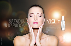 VICHY (Bruno Starling   Design) Tags: portrait woman cute sexy girl beautiful beauty face vertical closeup female studio naked relax one healthy pretty adult skin body young calm fresh sensual clean whitebackground health attractive serene meditation care sensuality isolated cosmetic 20s wellness treatment caucasian stroking fashionmodel skincare 2025years closedeye pampering relaxtion