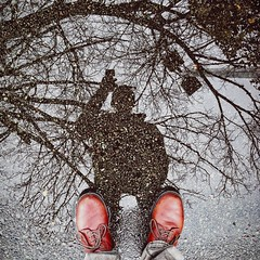 From Where I Stand Day 29 (AnthonyTulliani) Tags: rain puddle boots iphone fromwhereistand iphone5 iphoneography