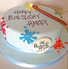 Bean & Brush Birthday Cake