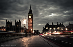 Life passes by in the blink of an eye (2012) (Stephen Champness) Tags: road city bridge houses light building london cars clock big nikon long exposure ben parliament trail adobe burst lightroom adobelightroom d3200