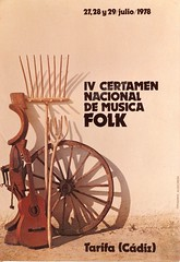 certamen musica folk 1978 (Gonzalo Alczar) Tags: folk musica 1978 1970 documento tarifa cartel certamen
