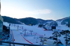 Winter wonderland at Hyundai Sungwoo Resort, South Korea (UweBKK (α 77 on )) Tags: mountain snow ski ice sport sony south korea resort alpha dslr hyundai 550 wonju gangwon sungwoo mygearandme