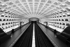 _MG_9443_bw (Prime_Focus) Tags: blackandwhite bw monochrome architecture subway square virginia dc washington pattern metro empty symmetry ceiling stop colorless canoneos5dmarkii