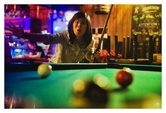 billard (Thomas Merlin) Tags: colors pool girl bar night pub billiards billiard snooker