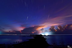 (Clonedbird  & Iris ) Tags:              startrails sunrise penghu tide rock island   landscape 2016 taiwan nikon d810